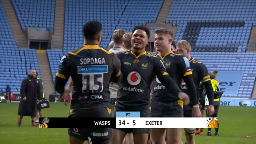 In Premiership grande vittoria dei Wasps su Exeter