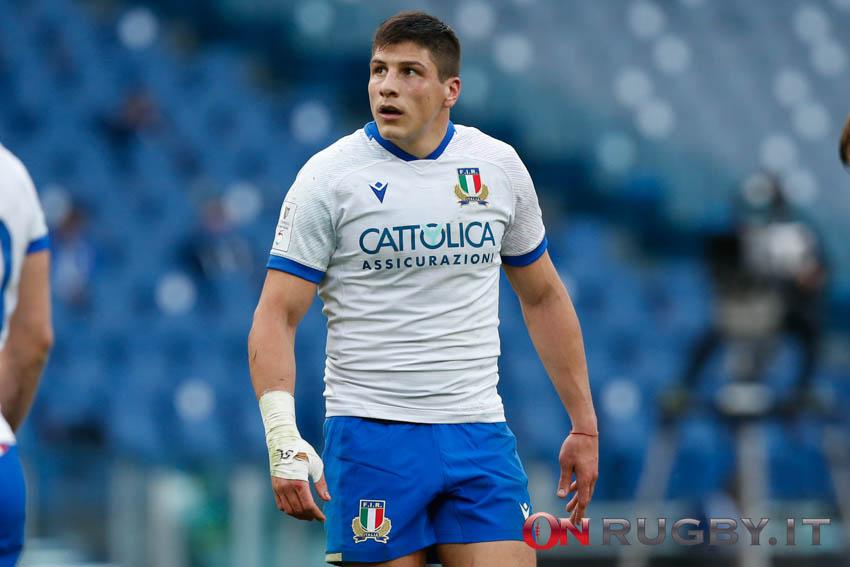 La formazione dell'Italia del rugby contro l'Irlanda