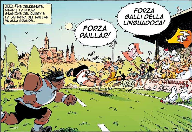 Un immagine del fumetto Rugbymen