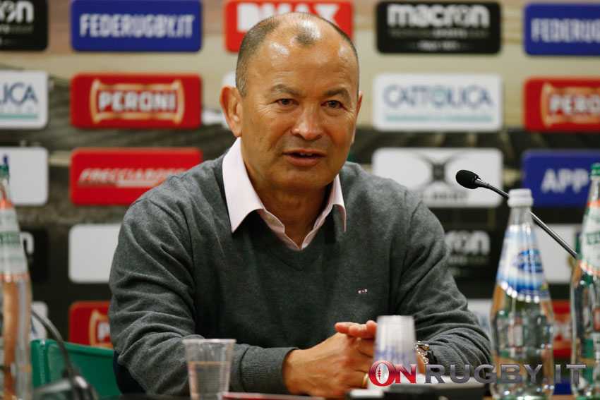 Eddie Jones, allenatore dell'Inghilterra. PH Sebastiano Pessina