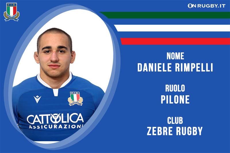 Daniele Rimpelli nazionale italiana rugby-Italrugby