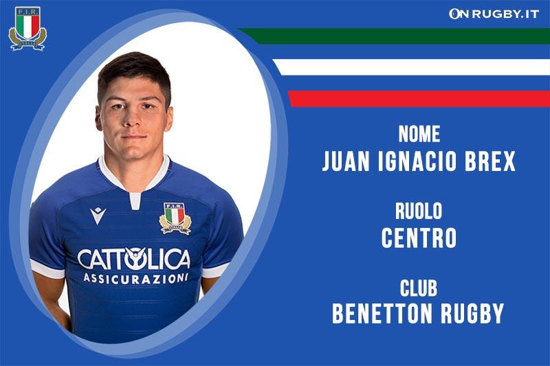 Juan Ignacio Brex nazionale italiana rugby-Italrugby