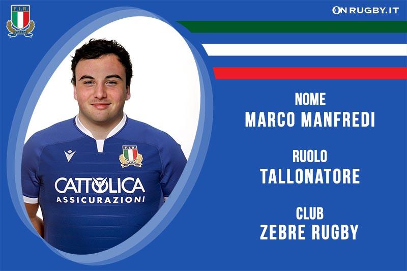 Marco Manfredi nazionale italiana rugby-Italrugby