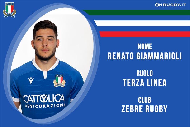 Renato Giammarioli nazionale italiana rugby-Italrugby