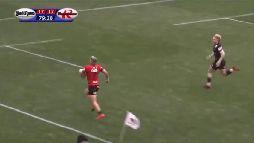 TJ Perenara vola in meta all'ultimo secondo disponibile nel match della seconda giornata della Top League giapponese