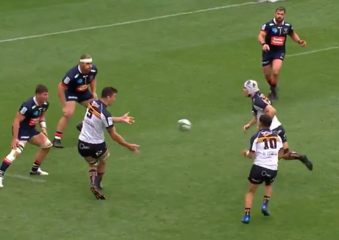 Super Rugby AU: la meta dei Brumbies, dove suona tutta l'orchestra