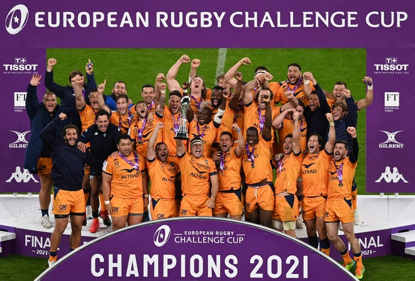 Challenge Cup: Montpellier batte Leicester ed è campione. (Photo by Glyn KIRK / AFP)