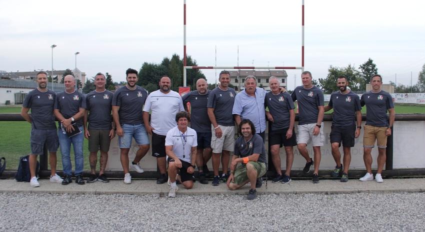 Kieran Crowley e lo staff della Nazionale ospiti del Colorno. PH Colorno Rugby