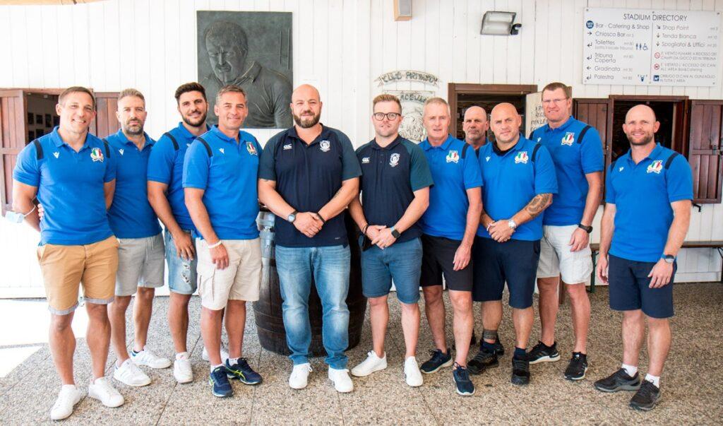 Mogliano: staff azzurro in visita e nuovo innesto per la stagione. PH Alfio Guarise - Mogliano Rugby